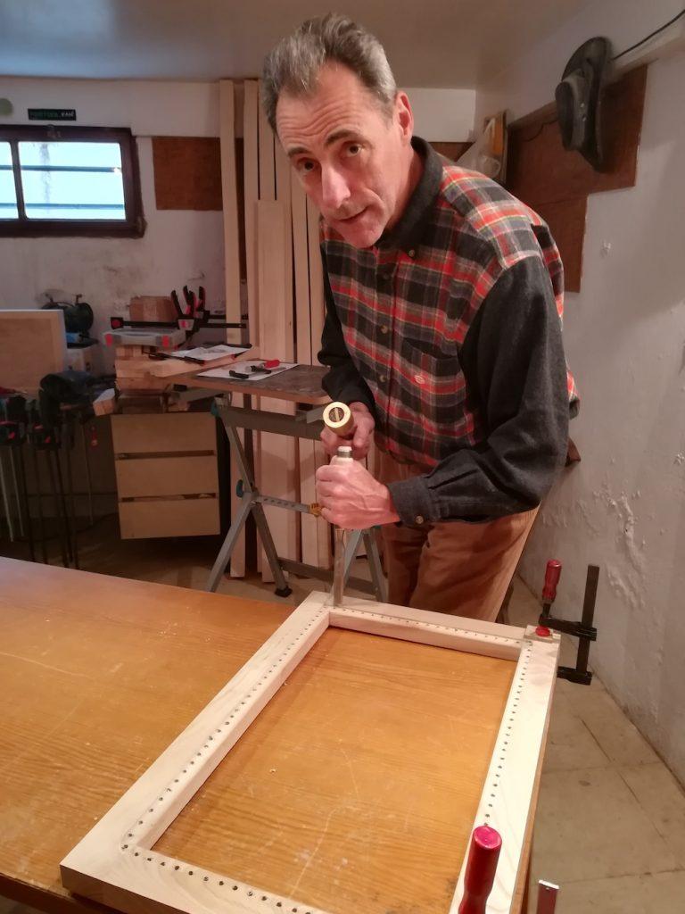 Lionel Husson au travail